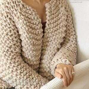 gustowne swetry gruby beige chunky