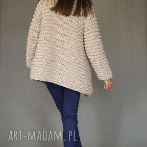 gruby swetry beige chunky