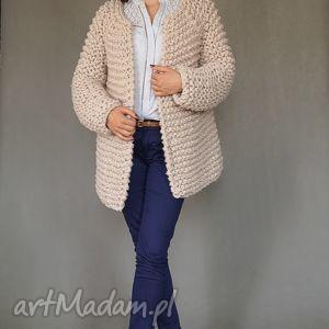gustowne swetry sweter beige chunky