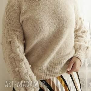swetry ekskluzywny beżowy bomberek