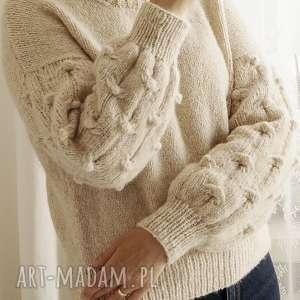 ekskluzywny swetry beżowy bomberek