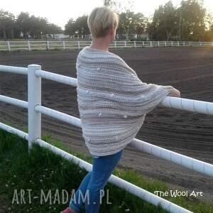 ponczo swetry big sweter