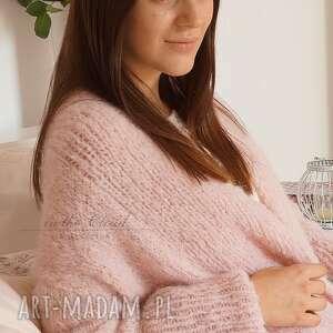 swetry kardigan bladoróżowy długi