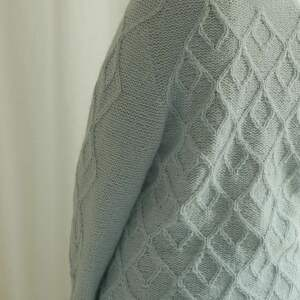 alpaka swetry błękitno miętowy