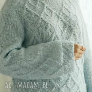 swetry alpaka błękitno miętowy