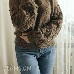 swetry bomberek brązowy