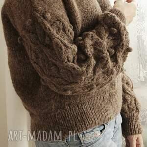 bomberek swetry brązowy