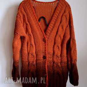 sweter swetry brązowy ombre