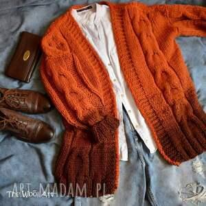 oryginalne swetry ubranie brązowy sweter ombre