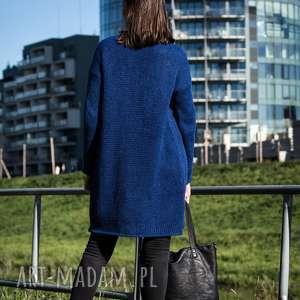 sweter swetry ciemnoniebieski kardigan
