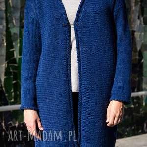 handmade swetry sweter ciemnoniebieski kardigan