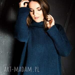swetry ciepły, granatowy sweter