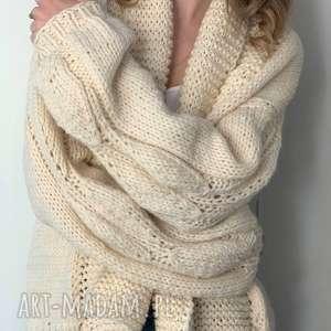 kardigan swetry ciepły sweter ecru