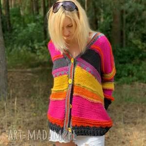 kardigan swetry ciepły sweter boho style