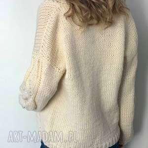 swetry kardigan ciepły sweter ecru