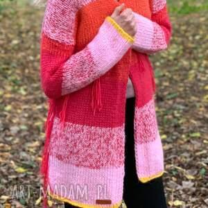 Ciepły sweter kardigan