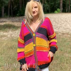 wyjątkowe kardigan ciepły sweter boho style