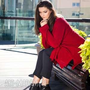 sweter swetry czerwony kardigan
