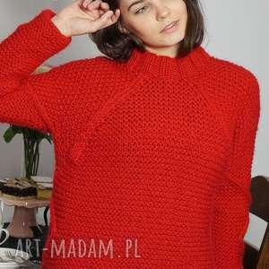 eleganckie swetry sweter czerwony