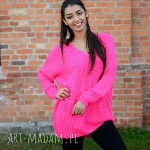 luźny damski sweter oversize, jesienny