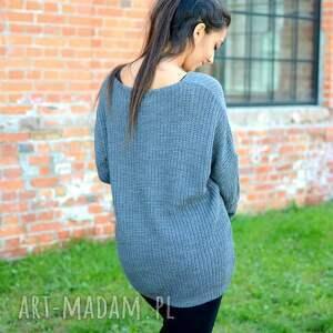 wyjątkowe oversize damski sweter , jesienny