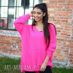 b7d07f70afda6a HandMade swetry - damski sweter oversize jesienny luźny szeroki