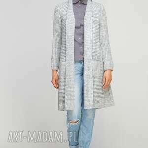 swetry casual długi, ciepły sweter, swe112 szary