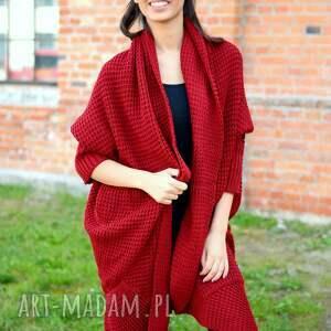 oryginalne swetry dzianinowy długi, gruby damski zimowy