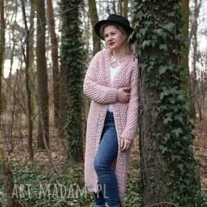 handmade swetry kardigan długi