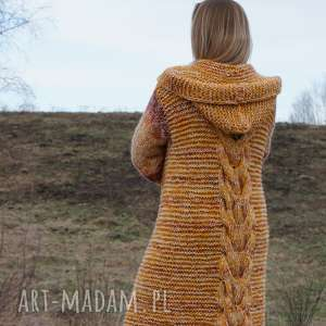 """handmade swetry płaszcz długi wełniany """"jesienna"""