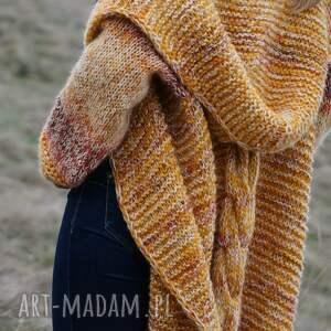 """brązowe swetry sweter długi wełniany płaszcz """"jesienna"""