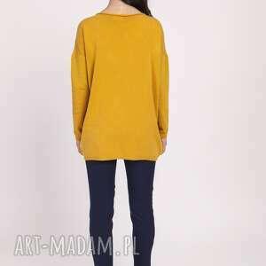 swetry sweter dzianinowa bluzka, swe121 musztarda