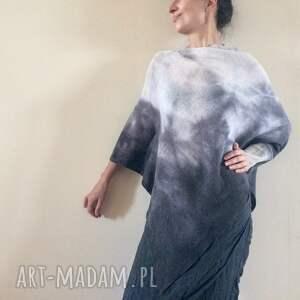 szare swetry sweter elegancki asymetryczny
