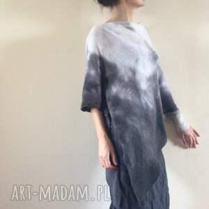 niesztampowe swetry elegancki asymetryczny sweter
