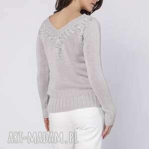 ciekawe swetry dzianinowy elegancki sweterek, swe142