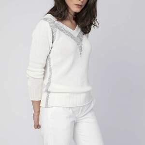 handmade dzianinowy elegancki sweterek, swe142