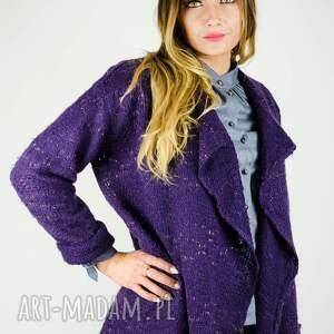 swetry pleciony wykonany z dzianiny akrylowej przeplatanej
