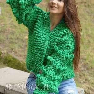 efektowne swetry sweter grassy green bomber