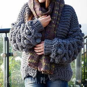 sweter swetry gray bomber