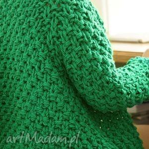 swetry gruby zielony