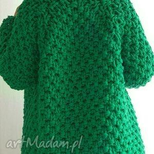 modne sweter gruby zielony