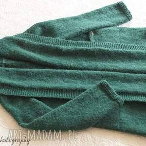 ciekawe swetry kieszenie szmaragdowy kardigan