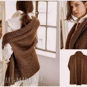dziergana swetry kamizelka wykonywana jest ręcznie z bardzo