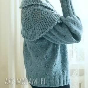 niekonwencjonalne swetry kardigan z falbankami