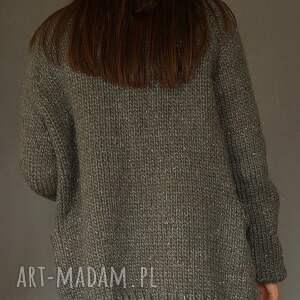 kardigan swetry z metaliczną nitką