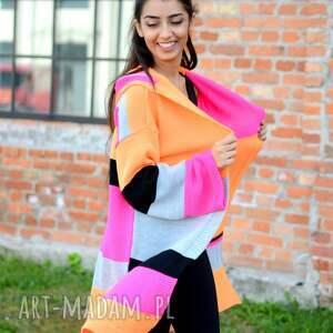 niepowtarzalne swetry jesienny kolorowy damski sweter