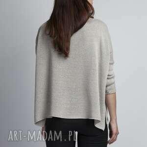 szare swetry oversize luźny sweterek, swe040 szary