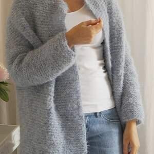 MonDu swetry kardigan niebieski