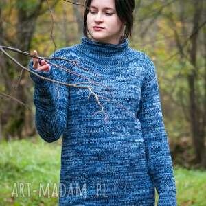 sweter swetry niebieski melanżowy