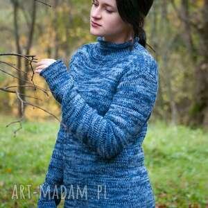 swetry sweter niebieski melanżowy